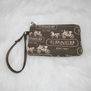 Coach Leatherware Fabric Wristlet